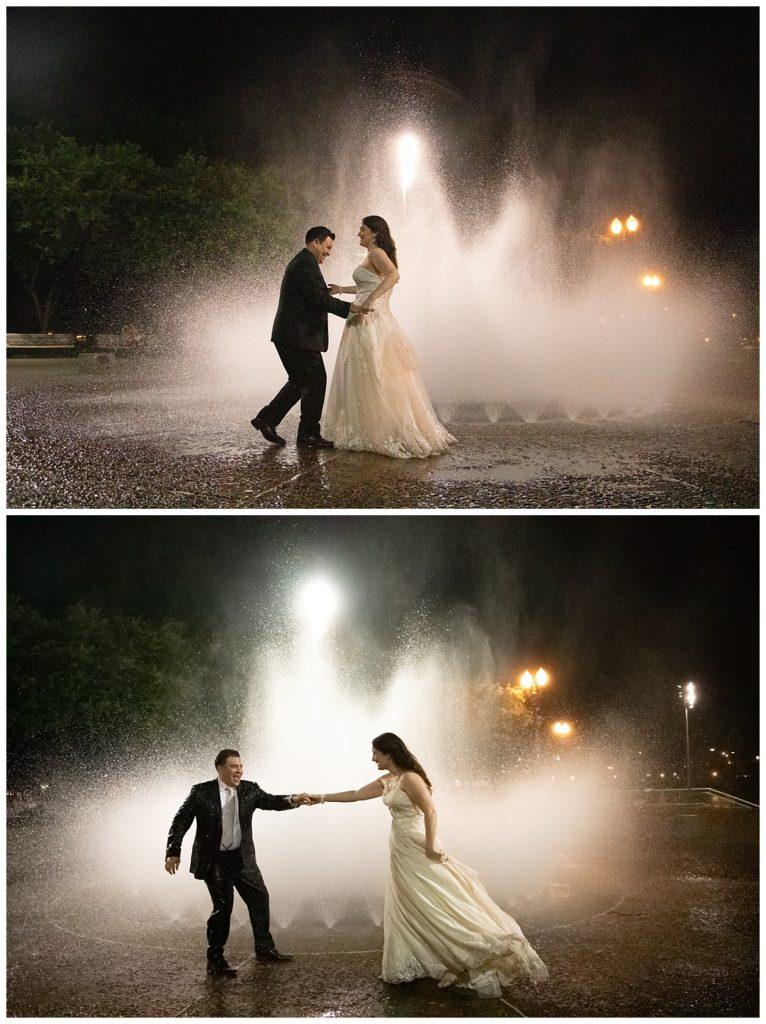 salmon street fountain wedding