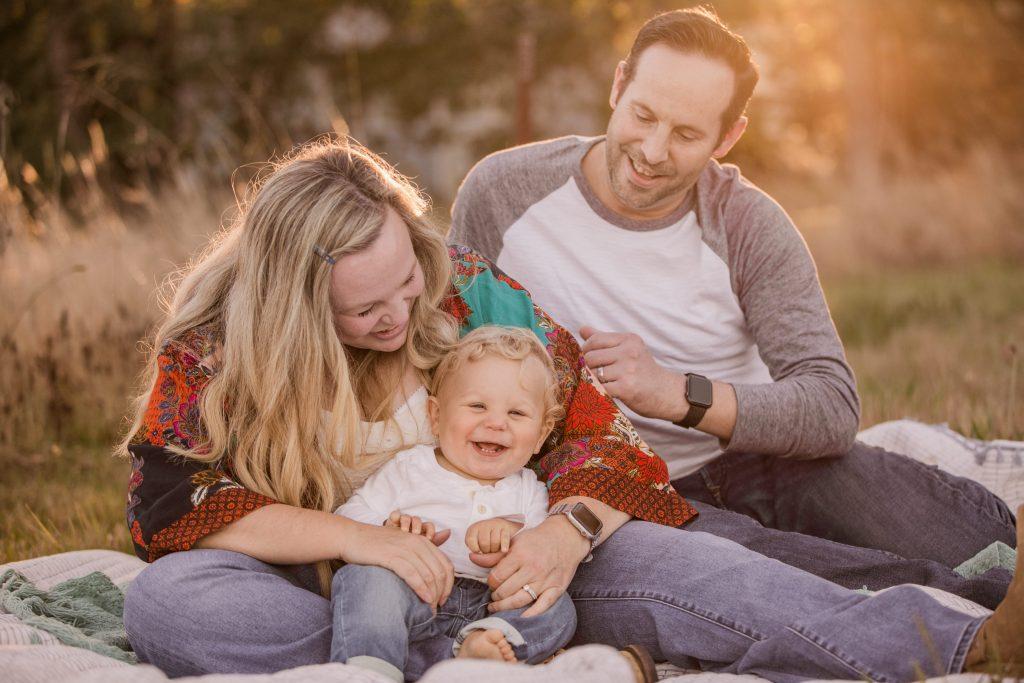 family at golden hour hillsboro orenco woods